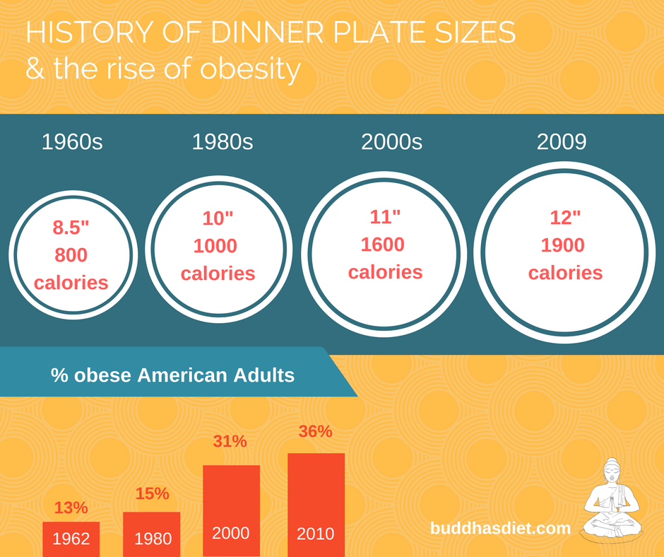So how can you use this to your advantage if youu0027d like to lose weight? Easy. Serve yourself dinner on a smaller plate.  sc 1 st  Buddhau0027s Diet & Obesity and your plate: How the size of your dinner plate is making ...