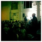 Lama Ole gives a speech about the new Buddhist Centre