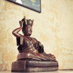 Statue of the 16th Karmapa, important teacher of Tibetan Buddhism