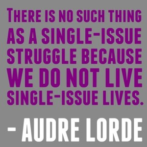 no such thing single-issue struggle