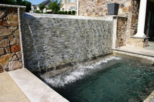 Swimming Pool design with waterfall in Howard County, Baltimore, Carroll, Frederick & Montgomery counties.