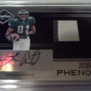 2fa10bb54a0 Jason Avant Philadelphia Eagles 2006 Leaf Limited 2 Color Signed Patch  Rookie Card
