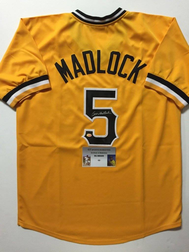 new arrival d9d82 aff80 BILL MADLOCK Autographed Pittsburgh Pirates Yellow Jersey » Budd's  Collectibles
