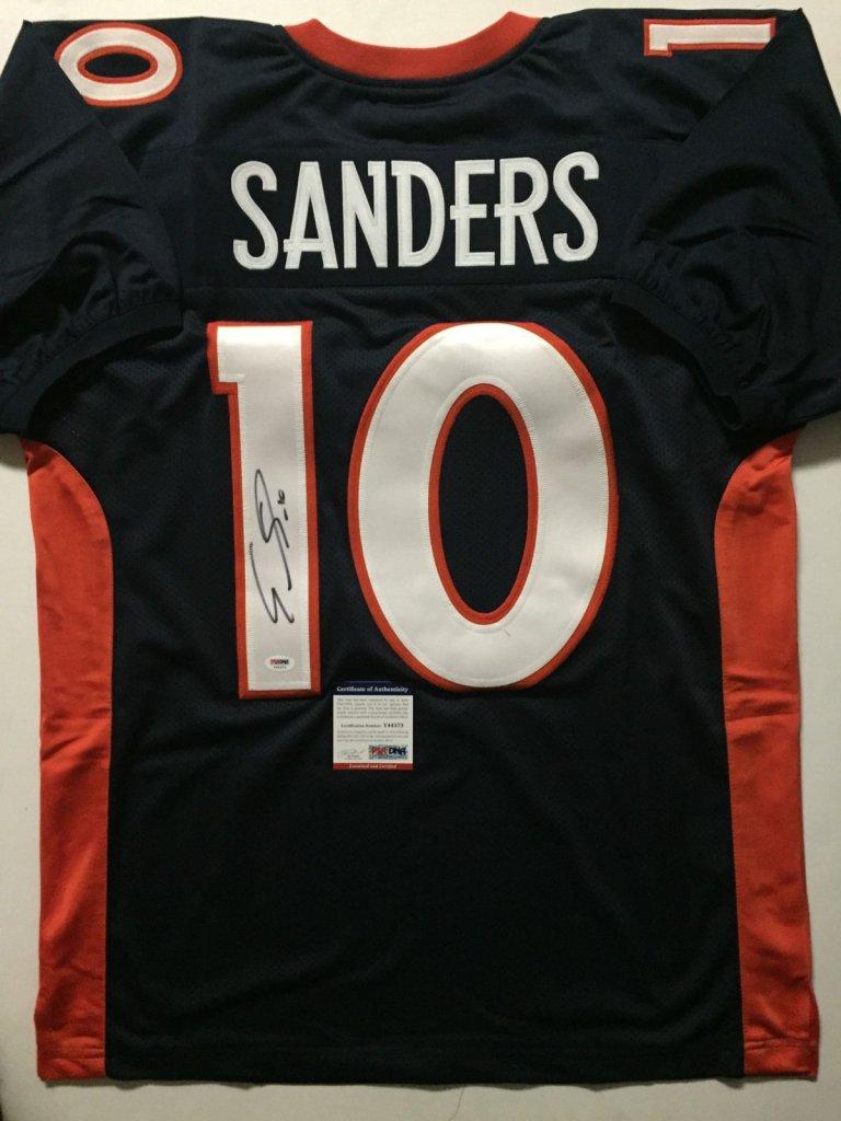 EMMANUEL SANDERS Denver Broncos Signed Blue Jersey » Budd s ... 965423667