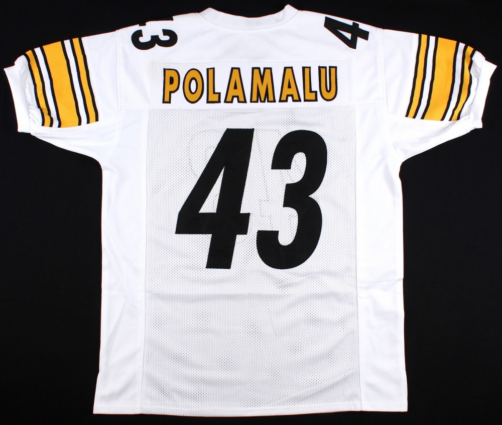 Troy Polamalu Pittsburgh Steelers On Field Style Custom Stitched