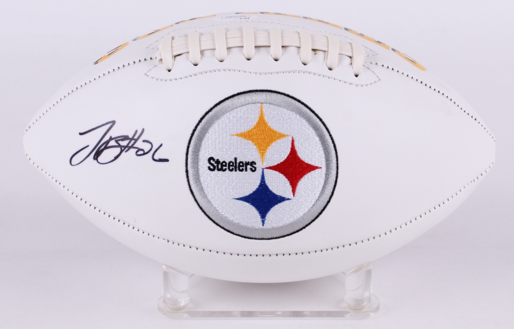 b5c2407f8 Le Veon Bell Signed Pittsburgh Steelers Logo Football