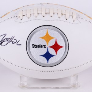 Le'Veon Bell Signed Pittsburgh Steelers Logo Football