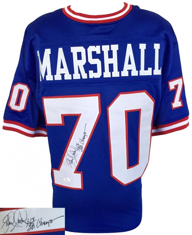341777b35f1 Leonard Marshall Signed New York Giants Jersey