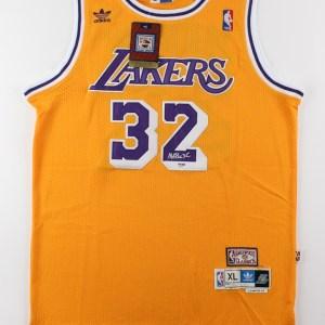 Magic Johnson Signed Los Angeles Lakers Adidas Jersey