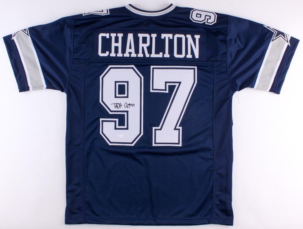 pretty nice ebabf 3dd1a Taco Charlton Signed Dallas Cowboys Jersey