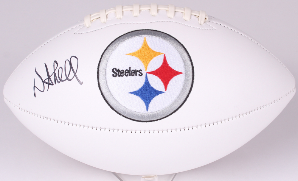 donnie shell signed pittsburgh steelers logo football budd s rh buddscollectibles net Old Steelers Logo free steelers logo pictures