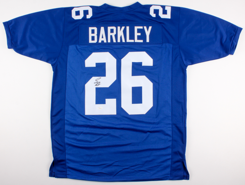 new style 66b1e 96904 Saquon Barkley Signed New York Giants Jersey » Budd's Collectibles