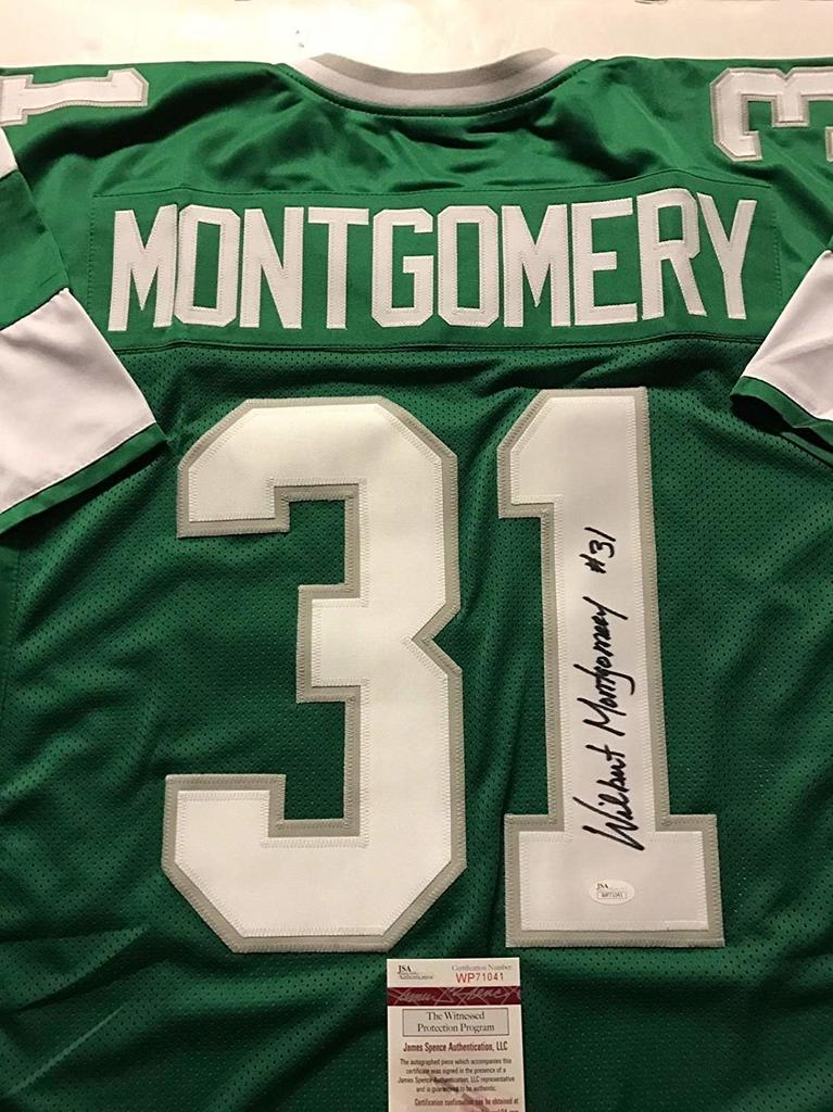 Wilbert Montgomery Signed Philadelphia Eagles Jersey » Budd's ...