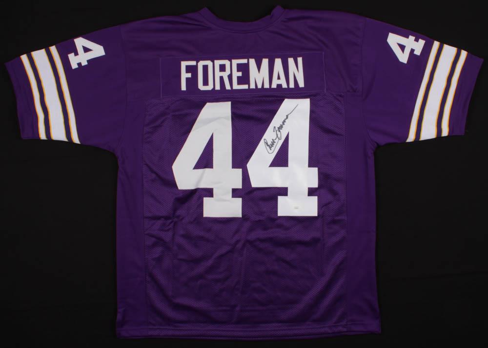Chuck Foreman Signed Minnesota Vikings Jersey » Budd's ...