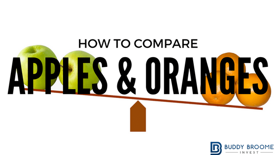 How to Compare Apples & Oranges