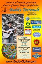 Poster for the Guitar Concert on Feb. 21, 2009