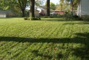 Lawn aerated and seeded.