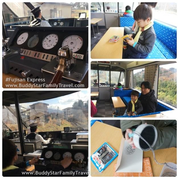 รถไฟลายฟูจิ, รถไฟภูเขาฟูจิ, ที่ขับรถไฟจำลอง, fujisan express, พาลูกเที่ยวฟูจิ
