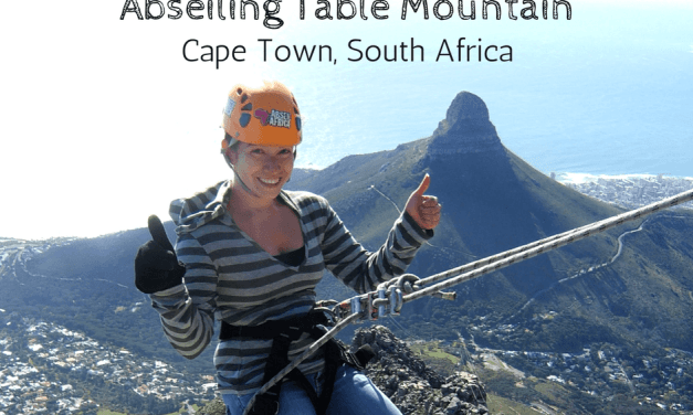 Abseiling Table Mountain In Cape Town, South Africa