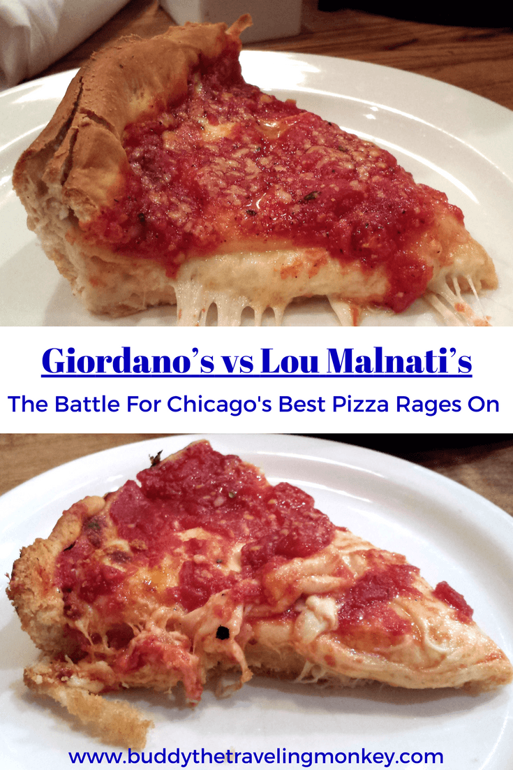 Who has thebest deep dish pizza in Chicago? Giordano's or Lou Malnati's? During our visit to Chicago, we visited both of these iconic pizzerias. In this post, we reveal what we liked about each and which we thought had the best Chicago deep dish pizza.