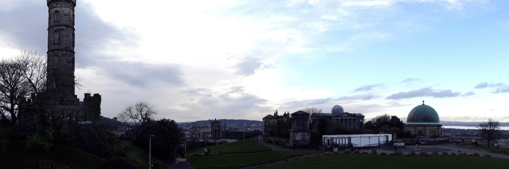 Views from the National Monument in Edinburgh