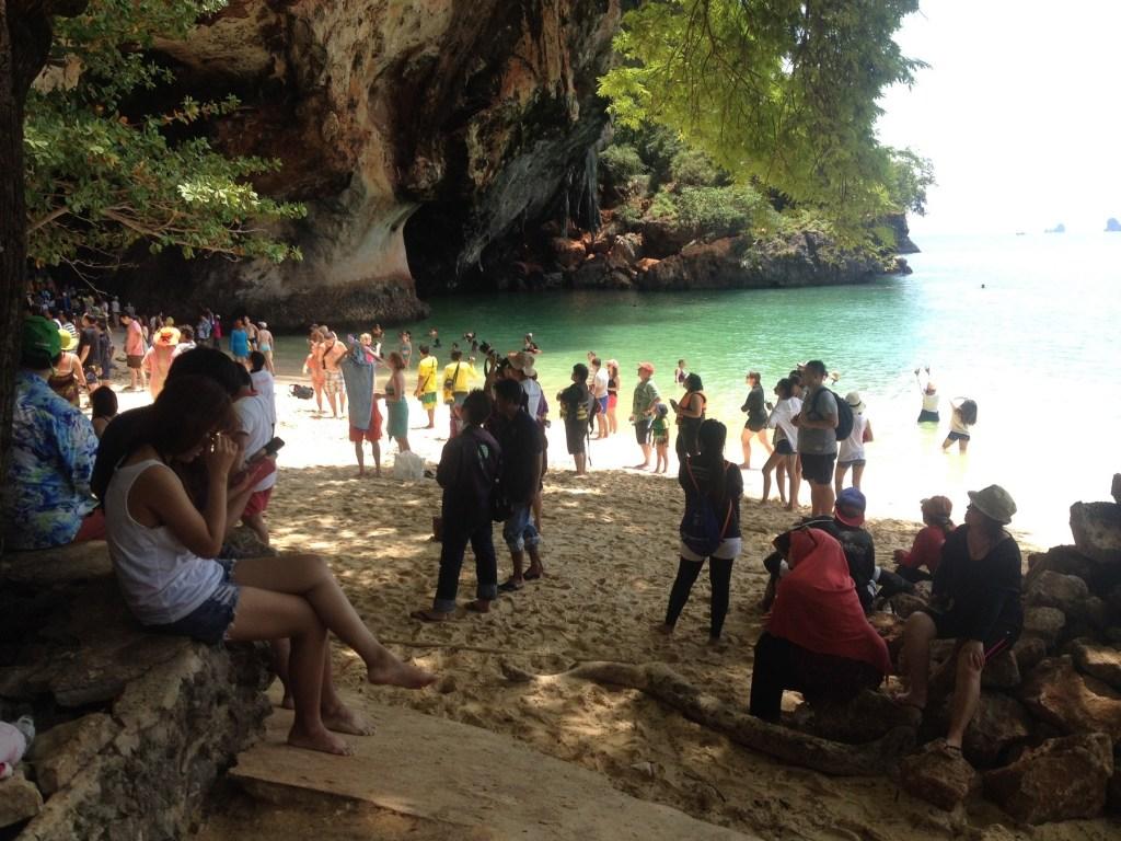 Crowded Farang Beach