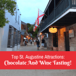 Eating Chocolate And Drinking Wine In St. Augustine