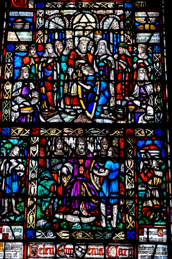 Stained glass window inside Trinity Church In Boston