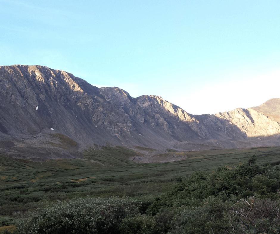 Grass and mountains near Grays Peak Colorado