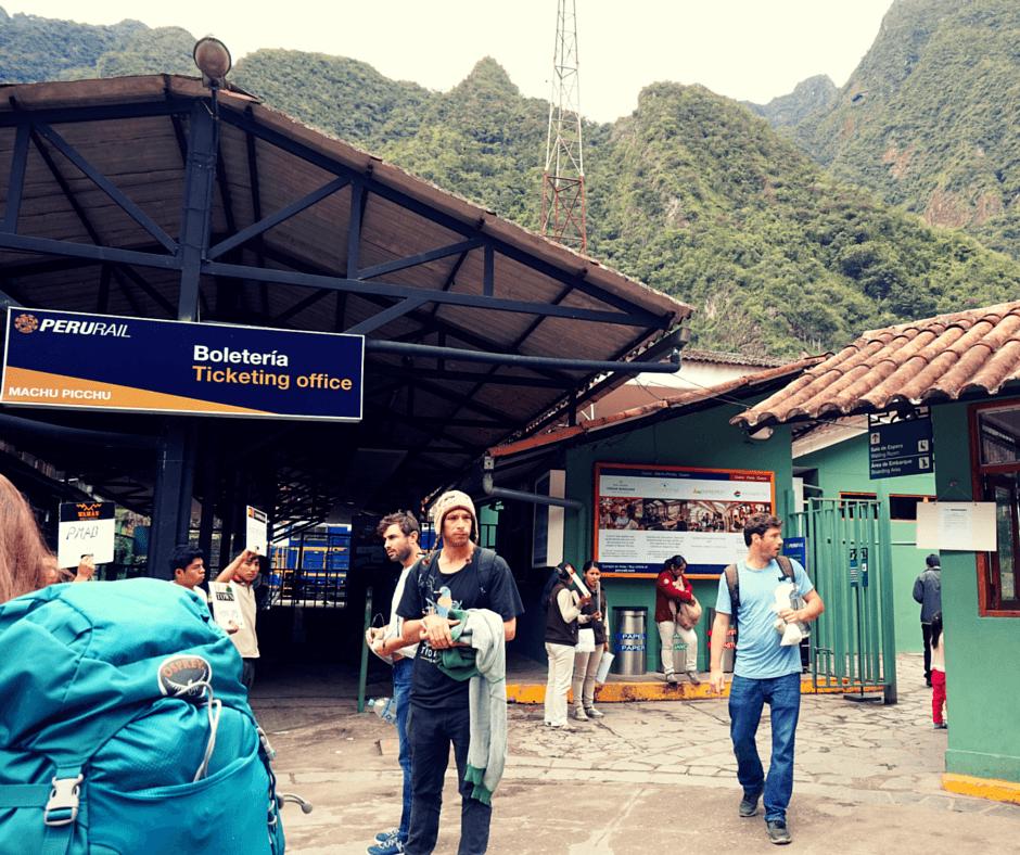 The Peru Rail train station in Machu Picchu