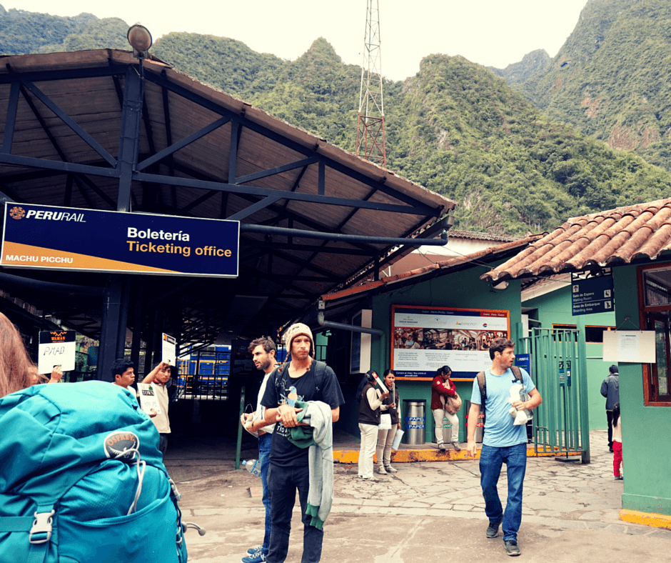 The Peru Rail train station in Machu Picchu