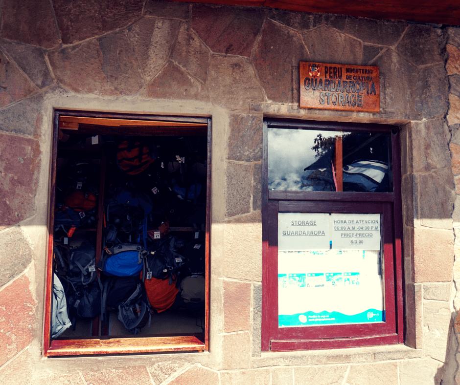Storage area at Machu Picchu