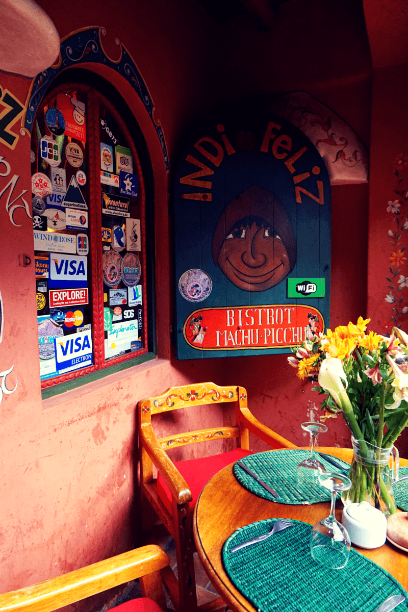 Indio Feliz restaurant in Aguas Calientes