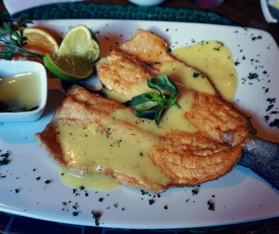 trout at Indio Feliz restaurant in Aguas Calientes