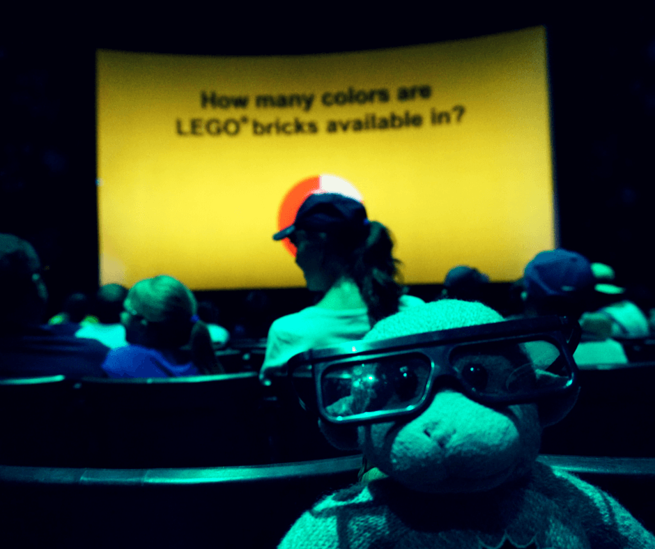 Waiting for the 4D movie to start in Legoland Florida