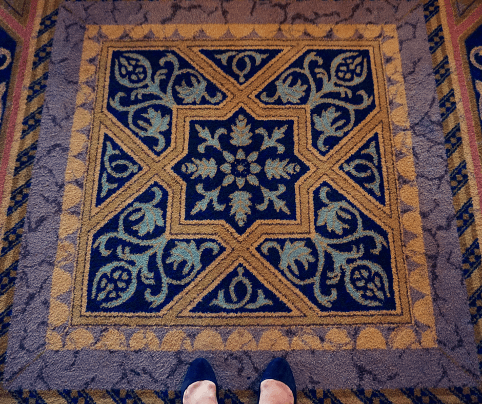 Carpet at the Biltmore Hotel Miami