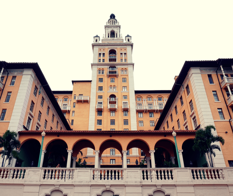 the back of the Biltmore Hotel Miami