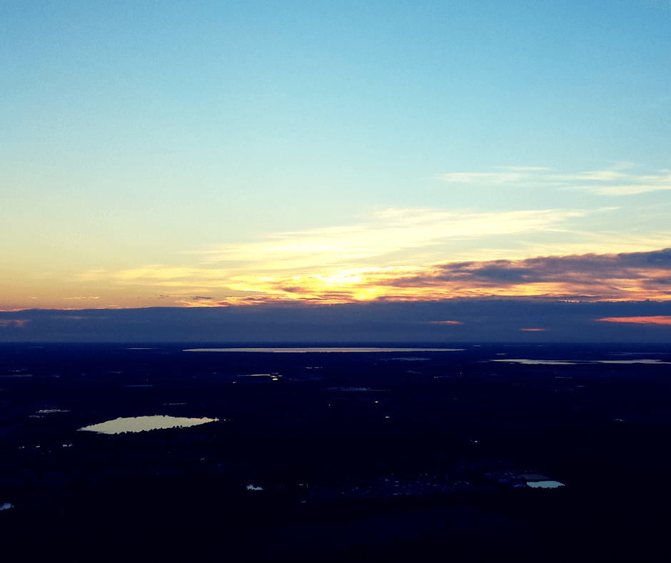 View of Central Florida from a hot air balloon