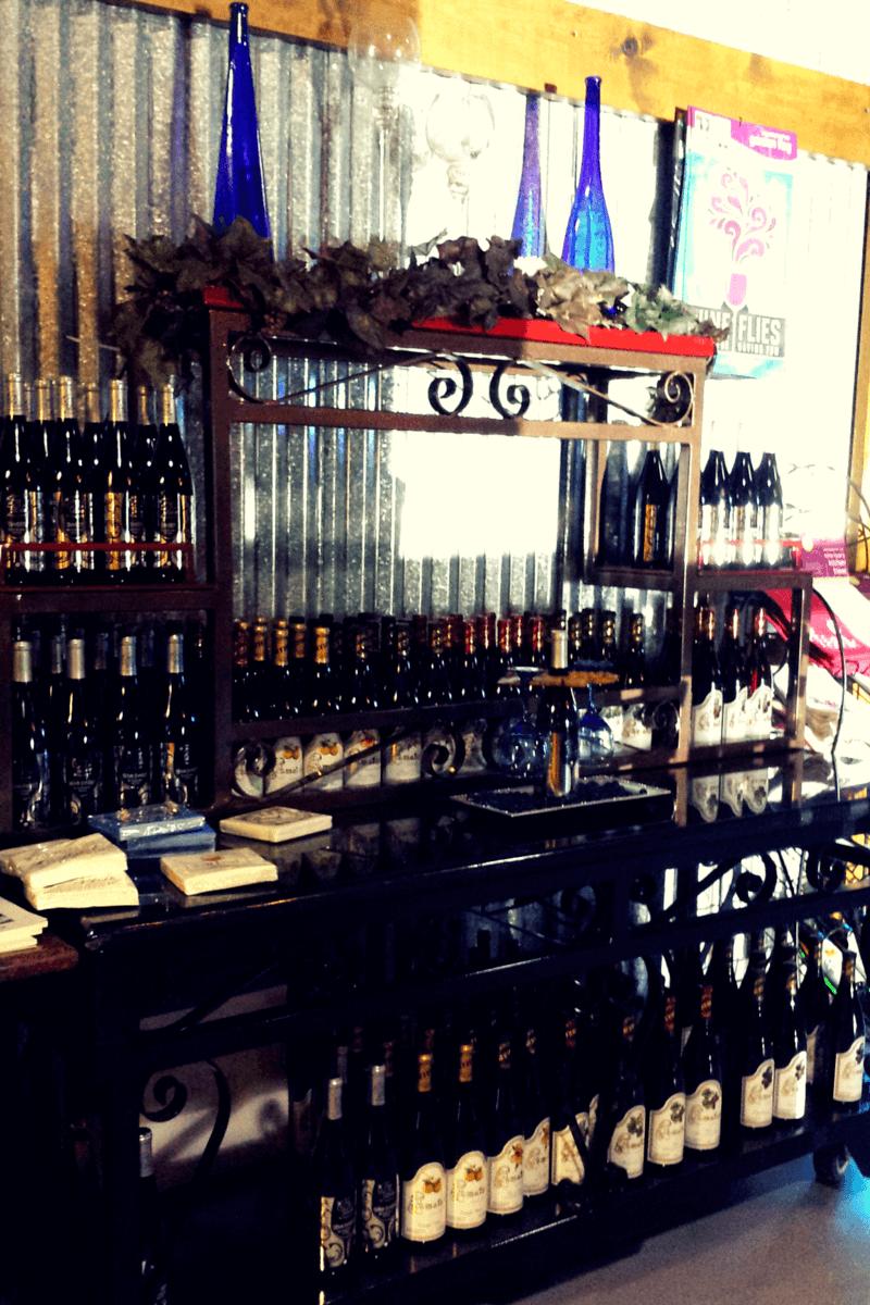 True Blue Winery gift shop