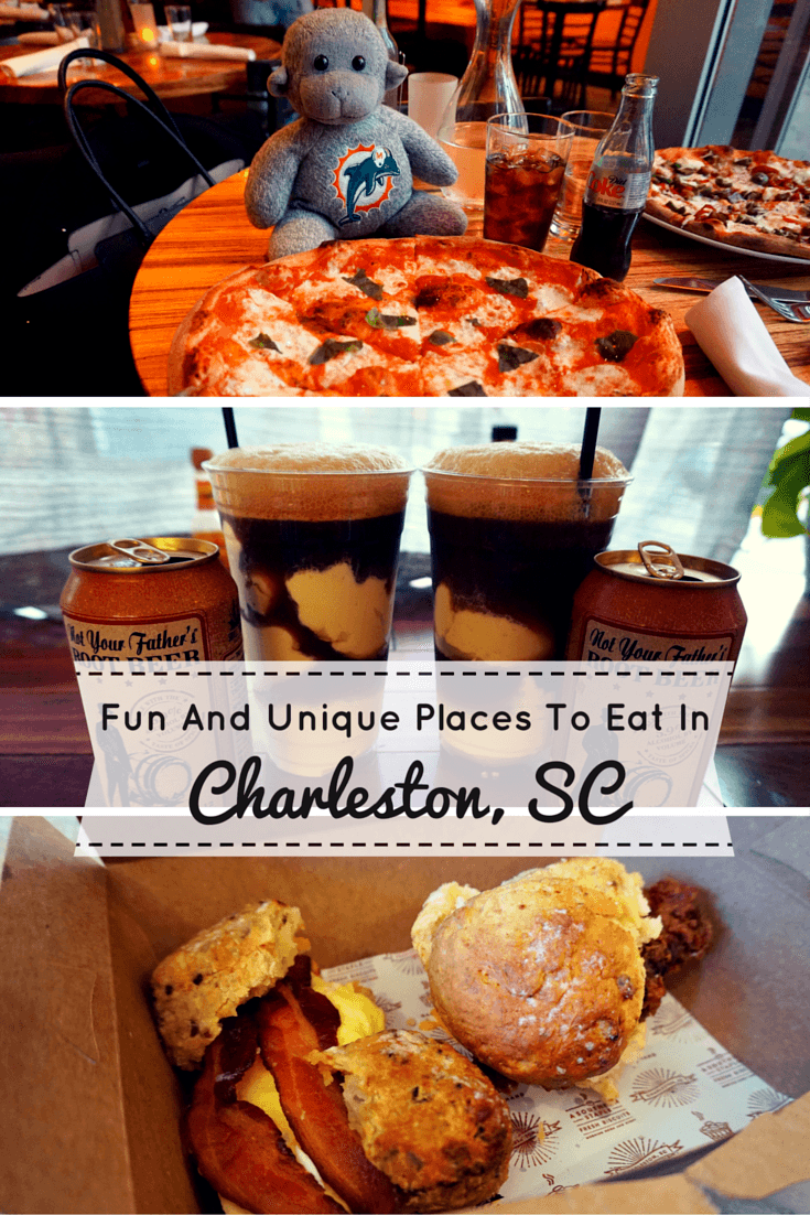 Searching for fun places to eat in Charleston, South Carolina? We highlight four unique and delicious restaurants.