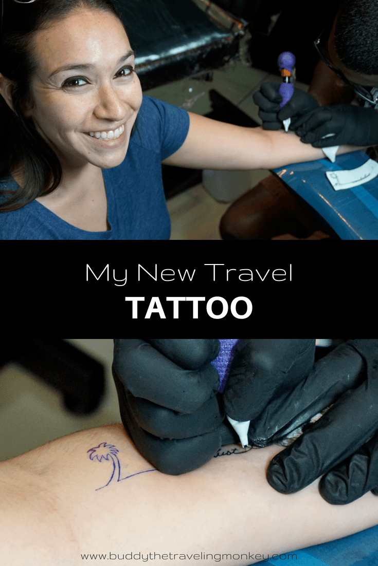 Travel has always been an important part of my life. I love it SO much that I designed a travel tattoo for myself; something unique that would represent me!