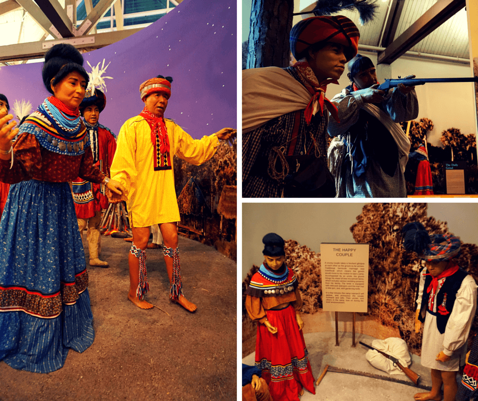 Displays show Seminole way of life at the Ah Tah Tho Ki Museum