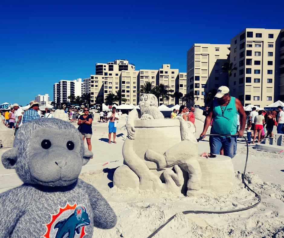 Buddy The Traveling Monkey Sand Sculpting Championship