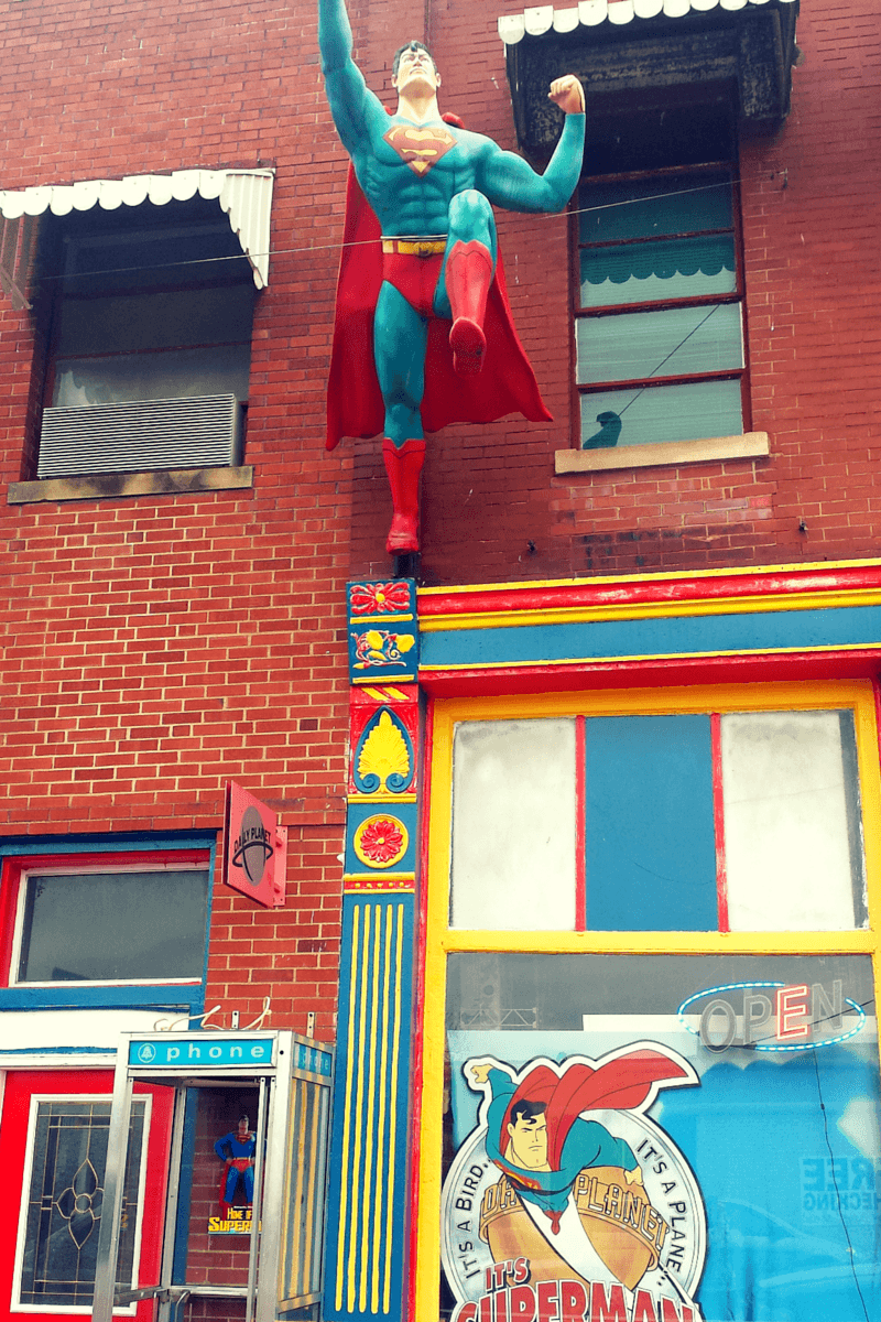 Not surprisingly, the city has a Superman museum