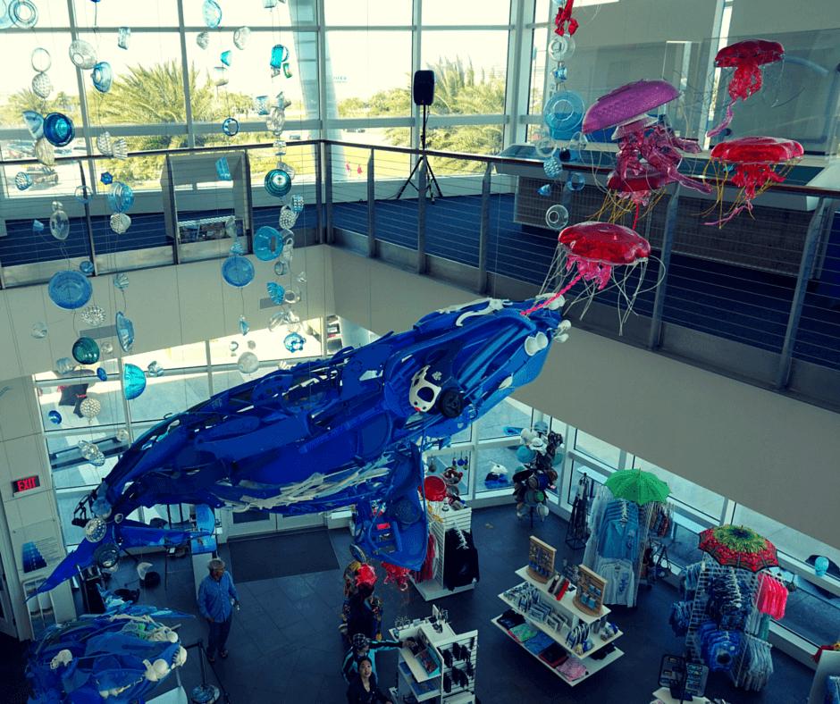 art inside Exploration Tower