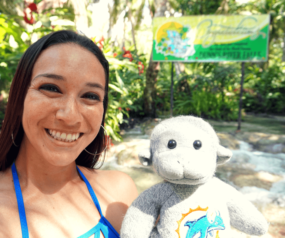 Buddy The Traveling Monkey Dunn's River Falls
