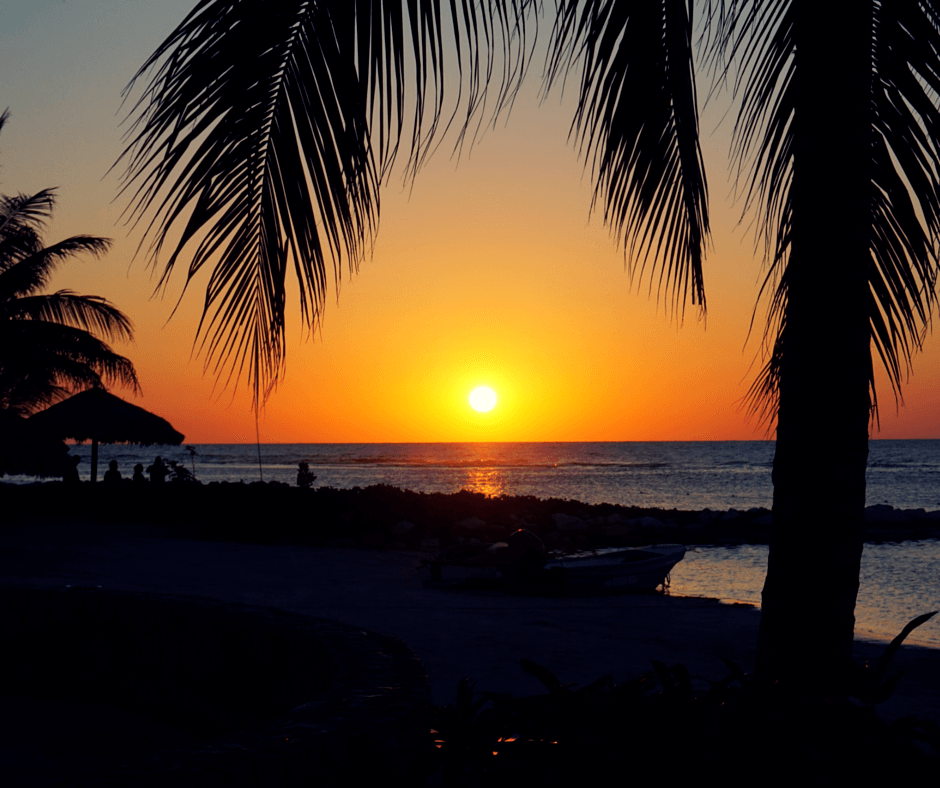 watching a sunset in Jamaica is one of the top reasons to visit Jamaica