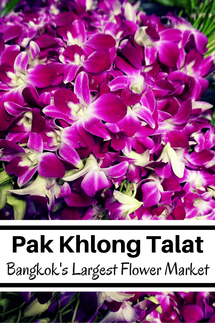 Pak Khlong Talat is the largest Bangkok flower market. Literally everywhere you look, there are flowers! If you're looking for off-the-beaten-path in Bangkok, and a cool and relaxing respite from the heat and tourists, pay a visit to Pak Khlong Talat.