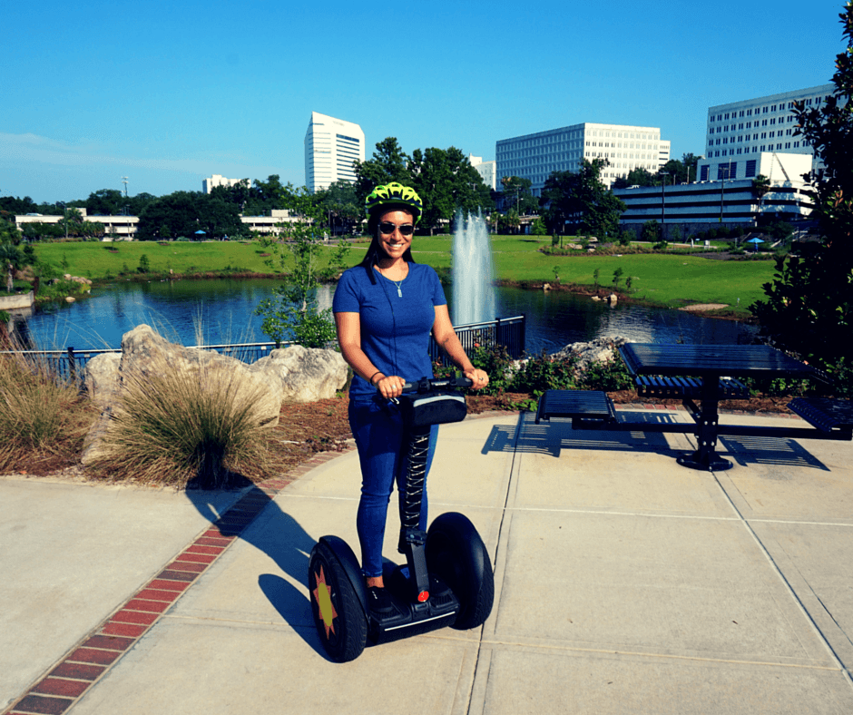riding a segway with Tallahassee Segway Tours