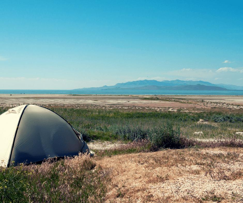 Camping Great Salt Lake
